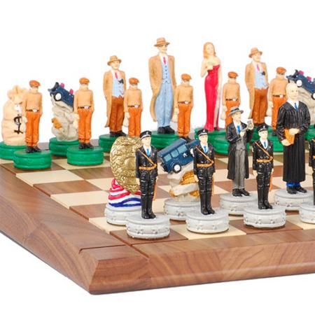 police chess set