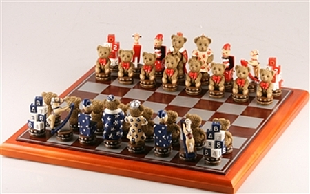 teddy bear chess set