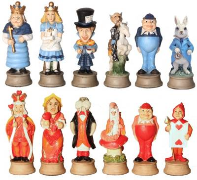 alice in wonderland chess sets