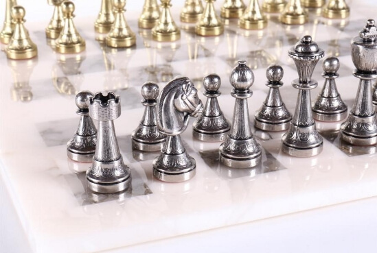 metal chess men