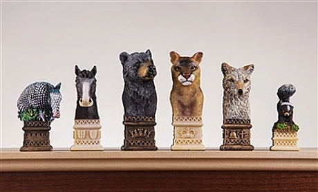 Wild Animal of America Chessmen chess set
