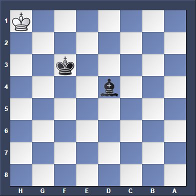 only king is left in chess